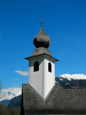 Onion domed church in Hohe Tauern Park