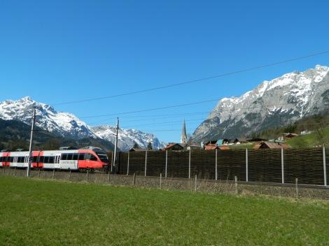 The Salzburg Linie train venturing deep into the mountains