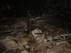Inside the mountain - bomb factory remains (2009)