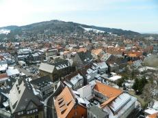 Snowy rooftops in Goslar