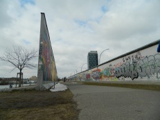 Two generations of the Berlin wall