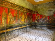 The Dionysiac fresco in Villa Dei Misteri