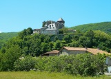 St Bertrand-de-Comminges from the road below