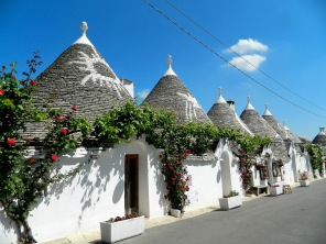 Alberobello decorated roof tops