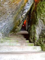 The narrow entrance through the rock