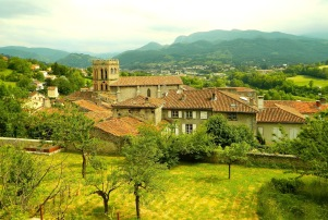 Saint Lizier at the foot of the Ariège Pyrenees