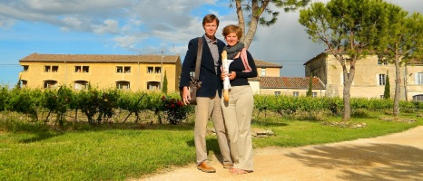 On our way to the soirée at Domaine Saint Firmin