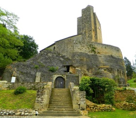 Eglise Rupestre de Vals built into the rock