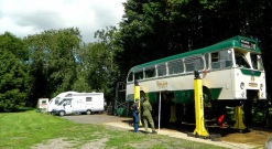 The Caravan Club site at Halland CL – men and motors