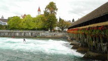 Surfing on the River Aare