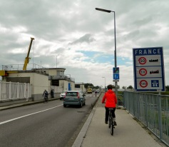 Cycling back into France