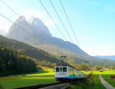 The Zugspitzbahn train
