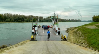 Ferry across the Rhine at Neuburgweier