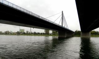Bertha beneath the N10 and Railway bridges