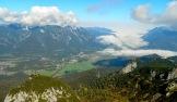 A view of Garmisch from Osterfelderkopf at 1369m