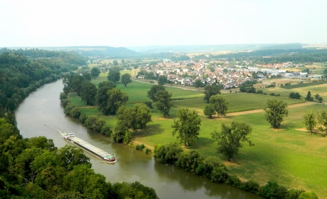 Barge on the Neckar