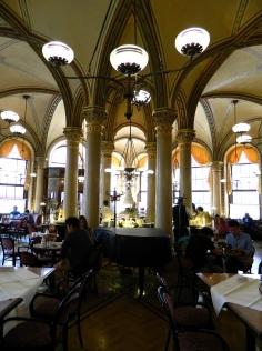 Cafe Central's grand interior