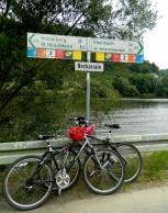 Cycle trail along the Neckar trail