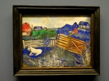 Goat and farmyard by Chagall