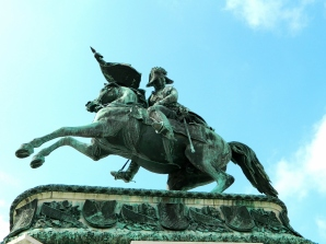 Archduke Karl in grounds of Hof