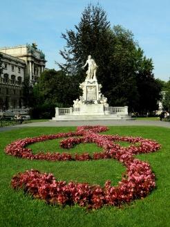 Mozart statue in Hofgarten