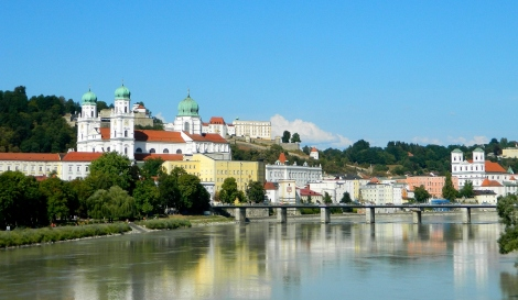 Passau from the River Inn