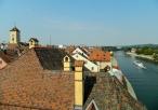 Regensburg rooftop view of Donau