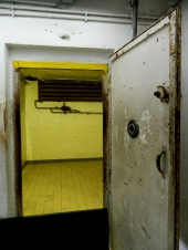 The door into gas chamber