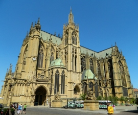 The imposing Gothic Cathedral