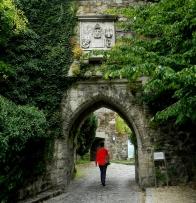 Entering the schloss
