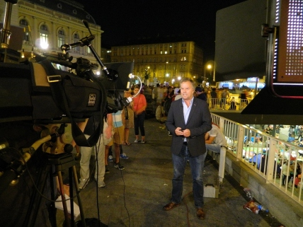 BBC's Matt Frei doing live report on BBC News Channel