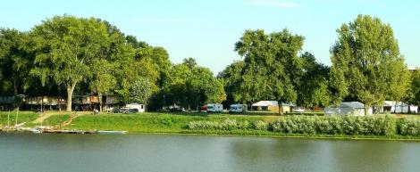 Bertha at the riverside camp