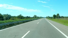 Empty road to Serbia