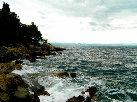 Kvarner gulf coastline