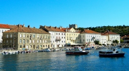 Senj harbour with fortress