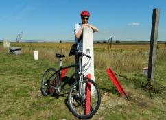 Simon in Slovakia, bike in Austria, Jo in Hungary