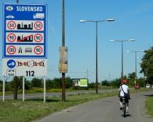 Cycling into Slovakia!