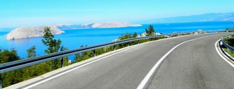 The scenic D8 coastal road