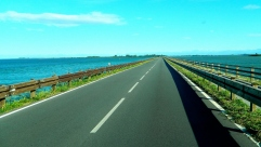 Causeway crossing Laguna di Marano