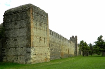 Crenellated town walls