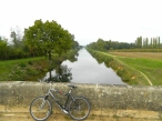 Cycling alongside the River Yonne