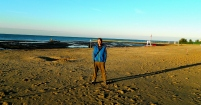 7am, first on the beach