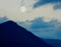 Moon over Slovenia