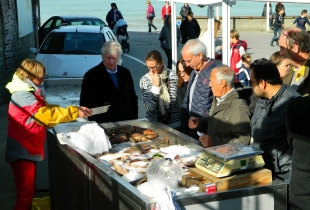 Sunday morning fish stall at Veules-les-Roses