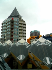 Cube houses rooves