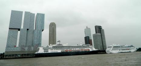 De Rotterdam building and Atlantic Liner