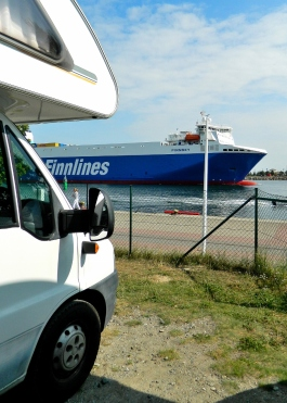 Port arrival from Helsinki