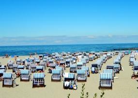 Relaxing in strandkörbes on Kühlungsborn beach