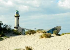 Warnemünde lighthouse and iconic 'teepot'