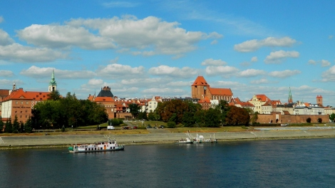 A view of Toruń across the Vistula